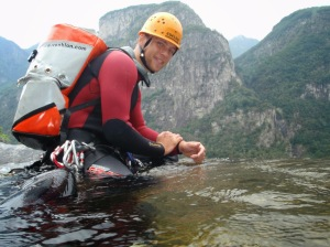 Lebt seinen Sport: Canyoning-Guide Chris Lemke (Fotos: Lemke)