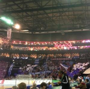 Choreografie der Fans vor dem Spiel